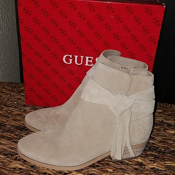 Guess Shoes - New Guess Camrin natural suede boots 6.5